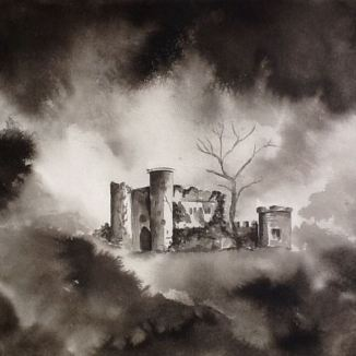 """Castle in the Clouds"" - 16x20 - Ink on paper"