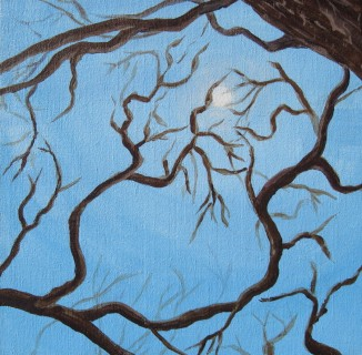 """Look To The Sky"" - 12x12 - Acrylic on canvas"