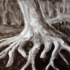 """Root Study"" - Ink on board - SOLD"