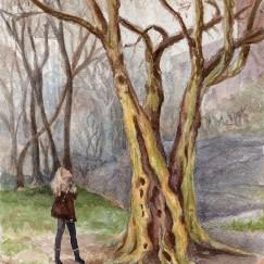 """A Little Bit Lost""- 8x10 - Watercolor [SOLD]"