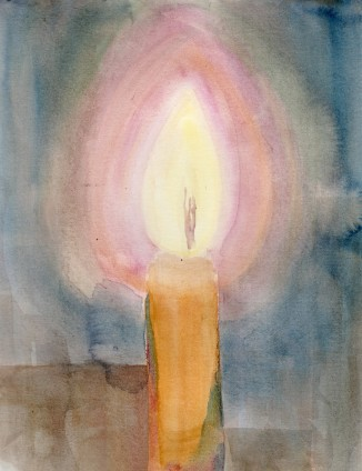 """Candle Study"" - 7"" x 10"" - $25"