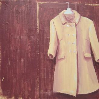 """My New Coat"" - 12"" x 12"" canvas - $65"