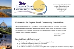 Website Design: Laguna Beach Community Foundation