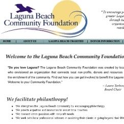 Website Design: Laguna Beach Community Foundation