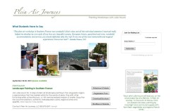 Website Design: Plein Air Journeys