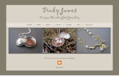 Website Design: Trudy James Jewelry