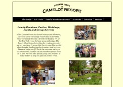 Website Design: Utah Camelot Resort