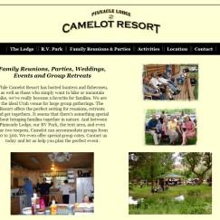 Website Design: Utah Camelot Resort