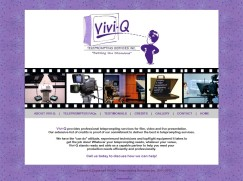 Website Design: Vivid-Q Teleprompting