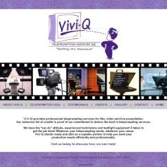 Website Design: Vivid-Q Teleprompting