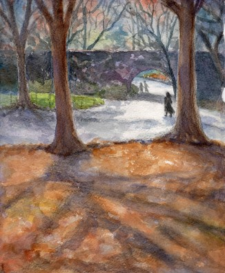 """Wandering in the Park""- 8x10 - Watercolor"