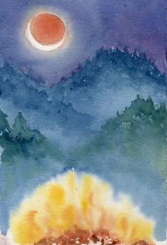 """""""Under the Eclipse"""" - 7x9"""