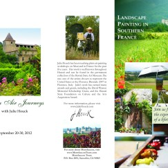 Brochure for artist Julie Houck