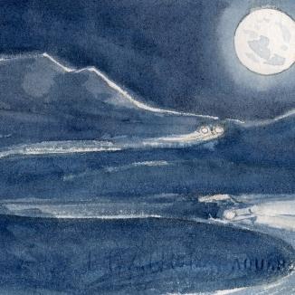 Full Moon On the Ortega