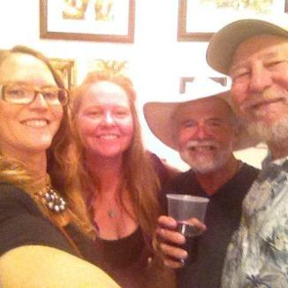 With April Solomon, David Solomon and Rick Lang at gallery show.