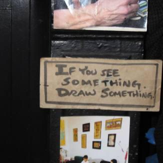NYC street artist's sign